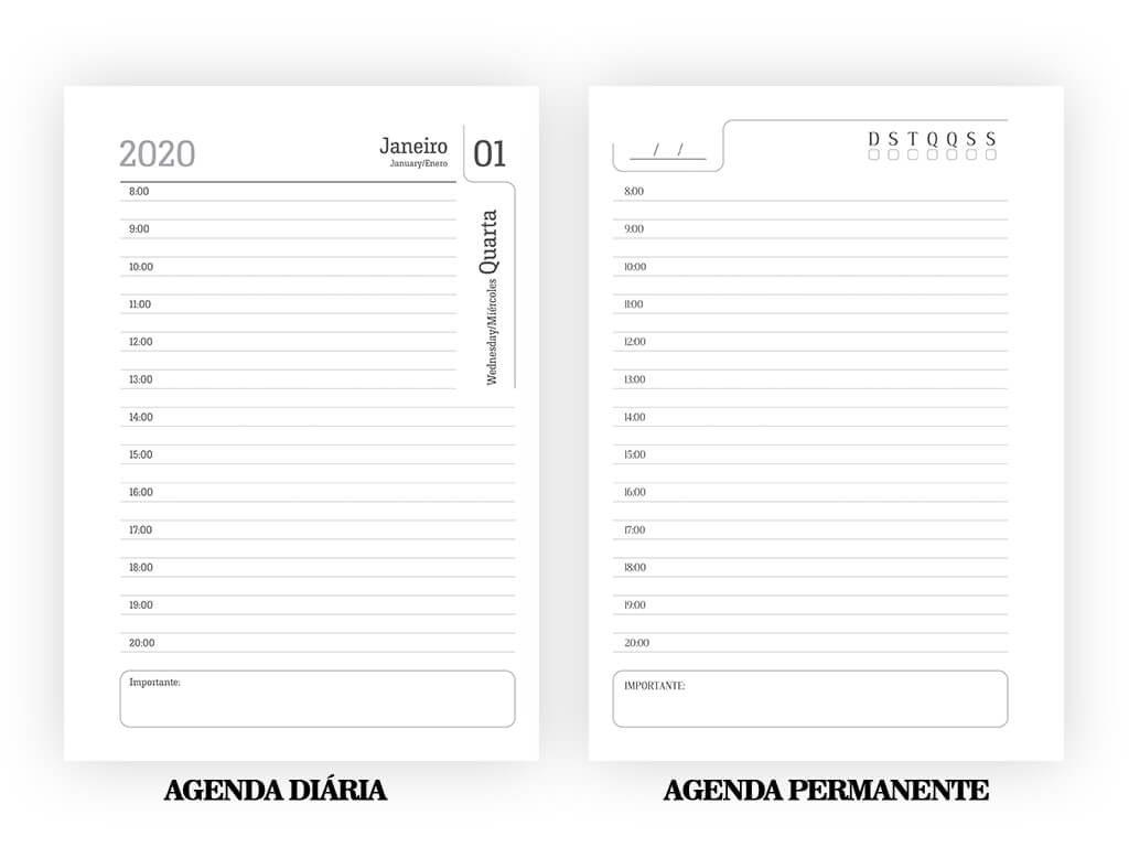 Agenda Diária e Agenda Permanente - Gráfica Cartões Mais Barato